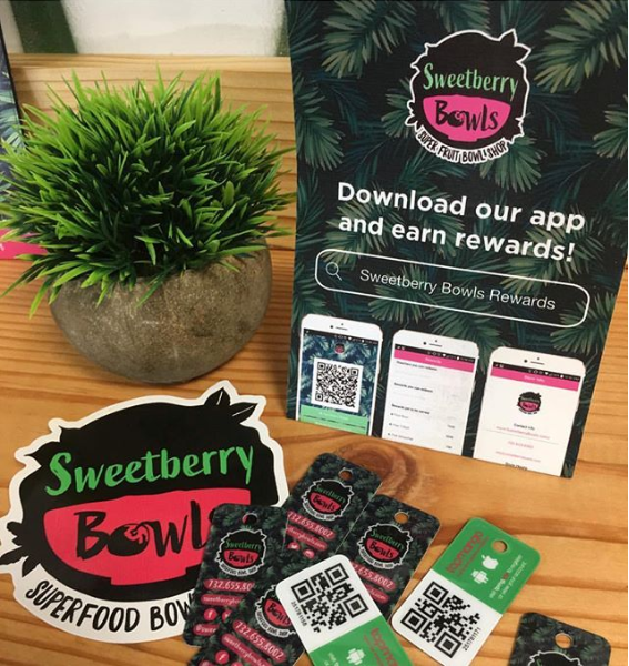 Sweetberry Bowls Rewards Mobile App