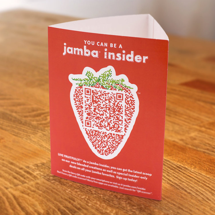 Jamba Juice insider rewards program tent